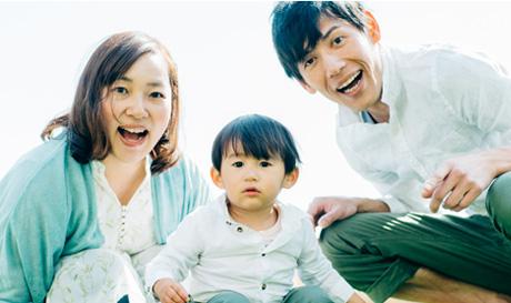 子育て家族写真